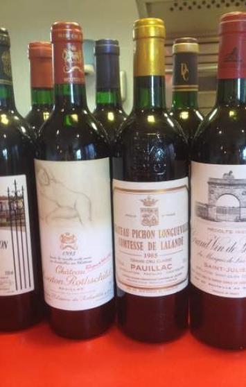 Vente lot de vins