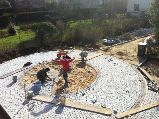 pav granit pose compris mat riaux de construction sol carreau houilles reference mat sol. Black Bedroom Furniture Sets. Home Design Ideas
