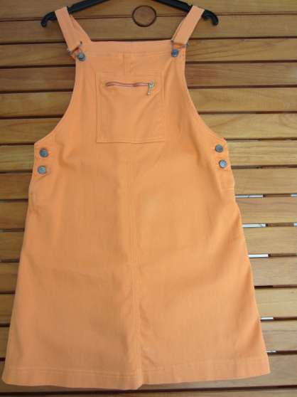 robe salopette orange 16 ans