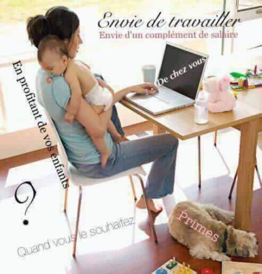 Annonce occasion, vente ou achat 'Aimeriez-vous travailler de chez vous?'