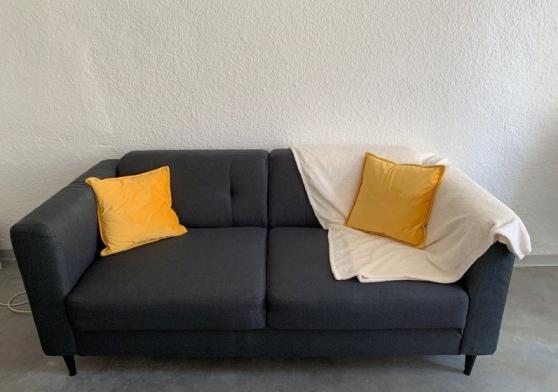 NEUF - Canapé 3 places couleur charbon