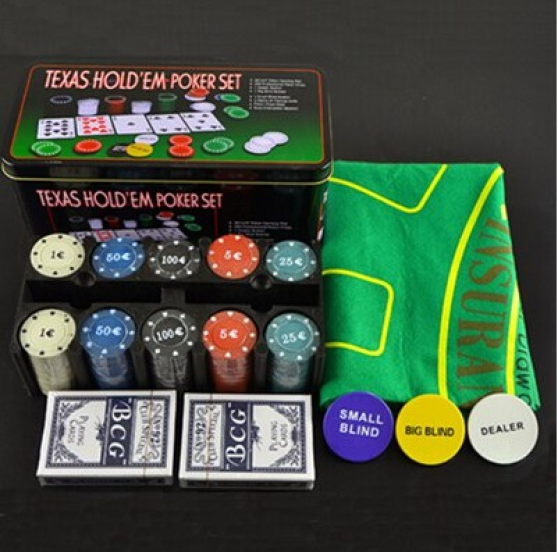 5 Boites poker 200 Jetons Texas Holdem