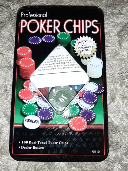 Annonce occasion, vente ou achat '5 Boites Poker 100 Jetons Texas Holdem'