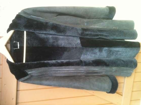 veste trois quart daim intuitionparis marols v tements femme vestes et manteaux marols. Black Bedroom Furniture Sets. Home Design Ideas
