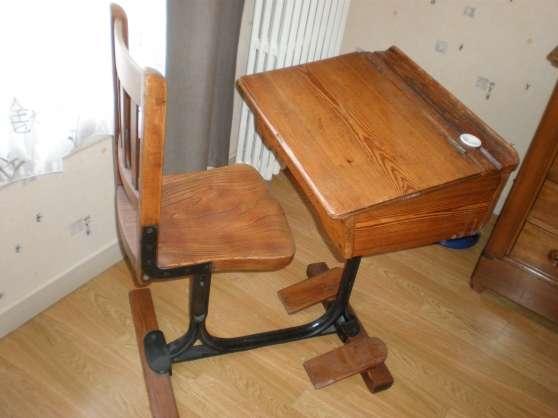 pupitre colier en pitchpin sannois antiquit art brocantes meubles anciens sannois. Black Bedroom Furniture Sets. Home Design Ideas