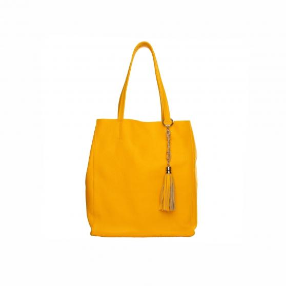 sac cuir jaune