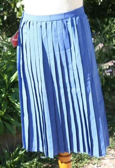 jupe plissée vintage fillette environ 10