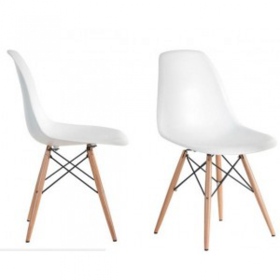 Chaise dsw charles eames blanc aix en provence meubles for Meubles concept chaise dsw