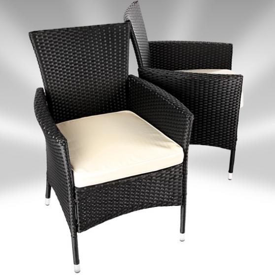 salon de jardin 6 places en poly rotin. Black Bedroom Furniture Sets. Home Design Ideas