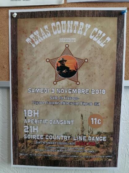 Annonce occasion, vente ou achat 'Soirée Country-Line Dance à Figeac'