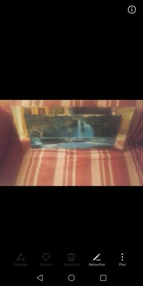 Tableau lumineux cascade chute d'eau