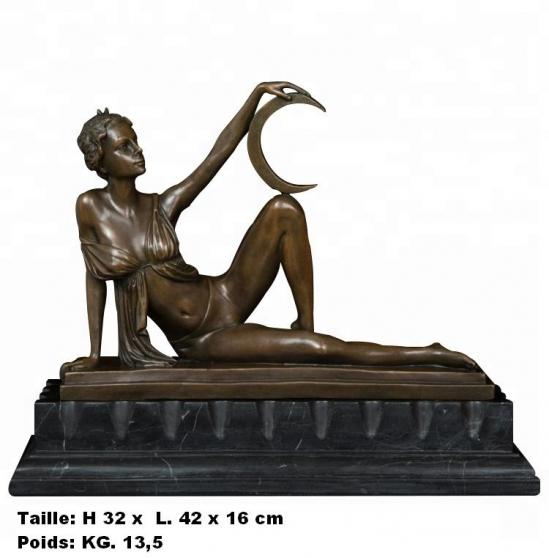 Petite Annonce : Sculpture figure de femme de milo - Sculpture \'\' Mythologique figure de femme, de Milo \'\' en bronze