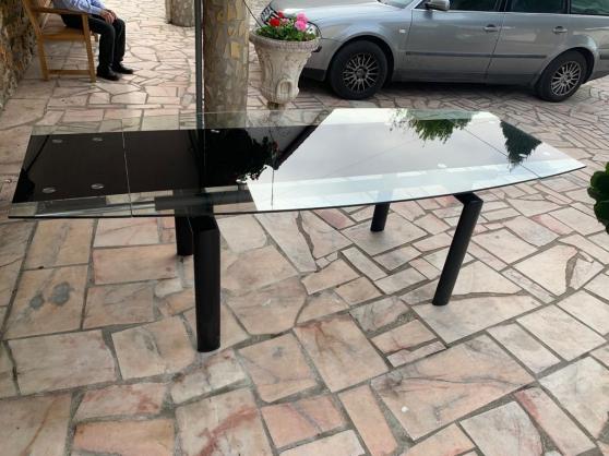 table extensible en verre et metal - Photo 2