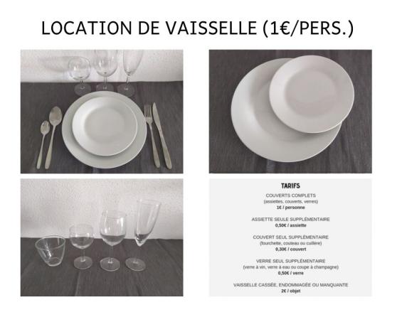 Annonce occasion, vente ou achat 'Location de vaisselle de qualité en Alsa'