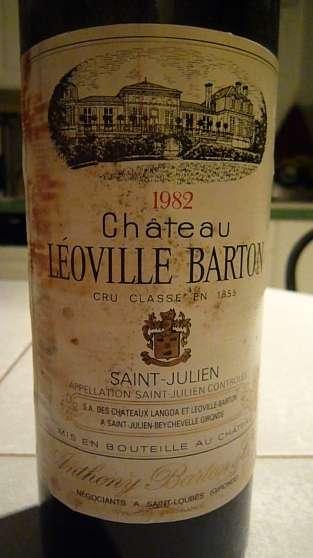 2 btl de Léoville Barton 1982