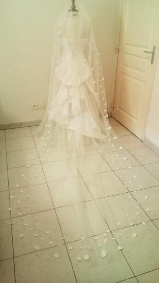 voile de mariée modèle cathédrale