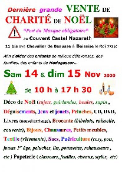 Annonce occasion, vente ou achat 'Vente de charité de Noël mi novembre'
