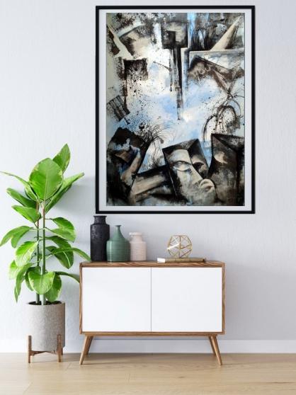 Annonce occasion, vente ou achat 'tableau acrylique décoration mural B-2'
