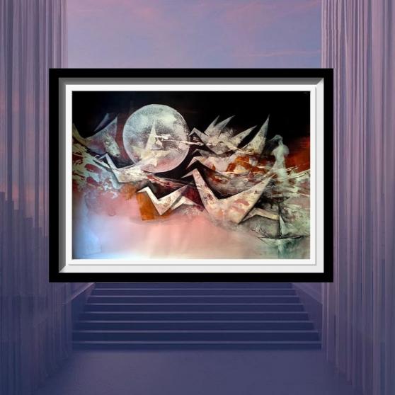 Annonce occasion, vente ou achat 'tableau acrylique décoration mural A-3'