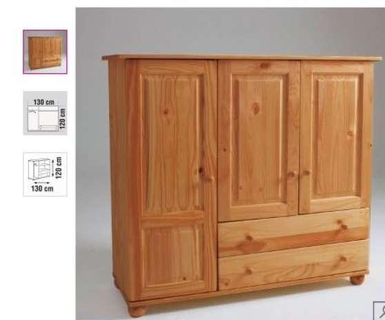 Armoire pin massif h120 cm couleur miel meubles for Meuble mural occasion