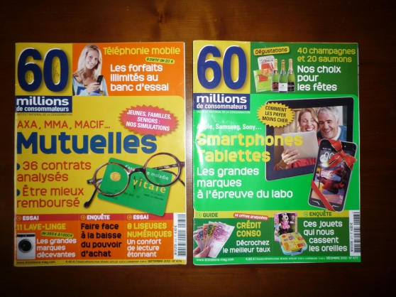 Annonce occasion, vente ou achat 'collection revue 60 millions de consomma'