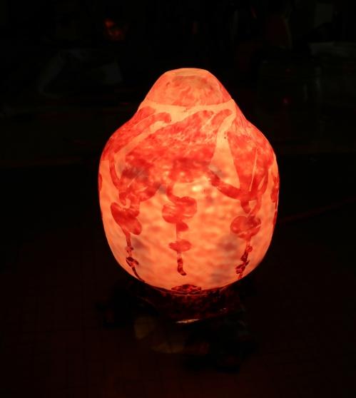 Lampe signée le Verre Français - Photo 2