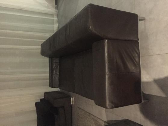 Canapé cuir vachette de chez ikea