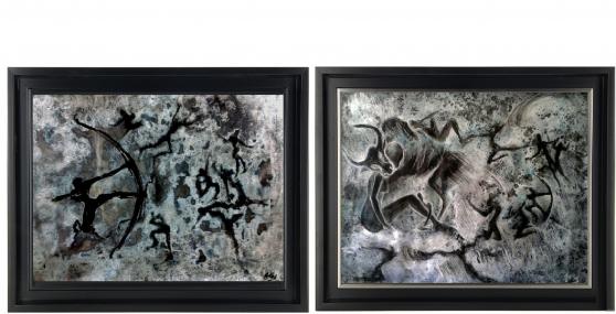 Annonce occasion, vente ou achat 'Tableau peinture lot de 2 pièce acrylic'