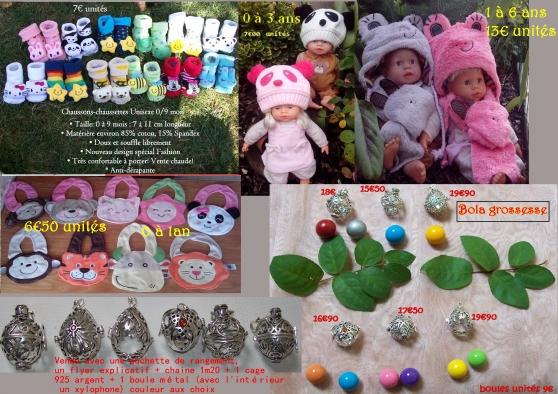 Annonce occasion, vente ou achat 'bébés bonnet panda, bonnet écharpe gren'