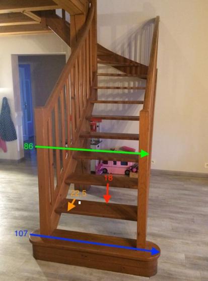 Escalier d'interieur en bois massif - Photo 3