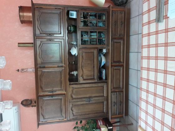 Annonce occasion, vente ou achat 'DONNE buffet séjour façade chêne vitrine'