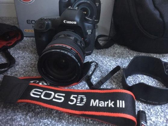 Annonce occasion, vente ou achat 'Canon 5D mark III avec objectif'