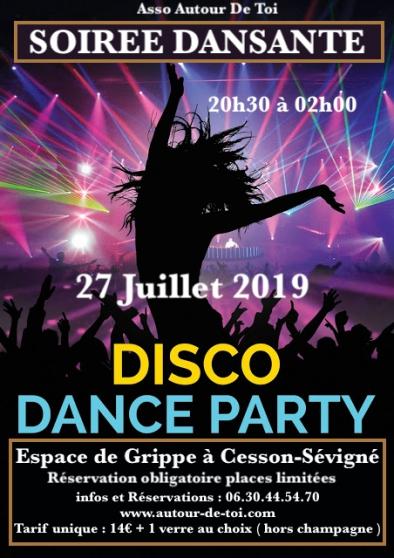Annonce occasion, vente ou achat 'Soirée Dansante DISCO DANCE PARTY'