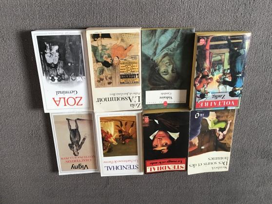 Livres Voltaire/Zola/Stendhal/Rousseau