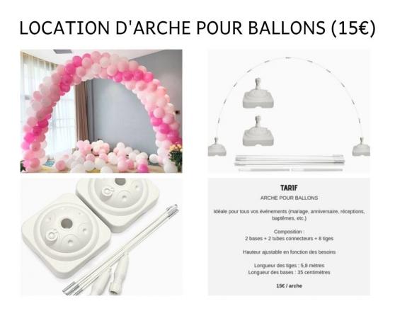 Annonce occasion, vente ou achat 'Location d\'arche pour ballons en Alsace'