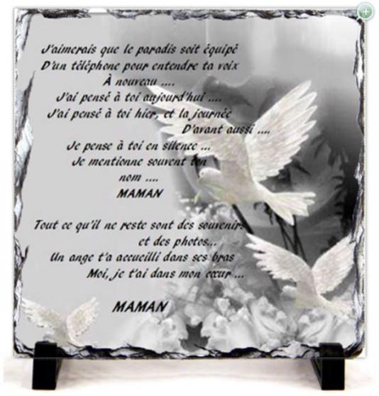 Annonce occasion, vente ou achat 'Plaque funéraire pour une maman'
