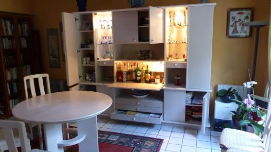 Buffet-Bar + Table + 6 Chaises NF