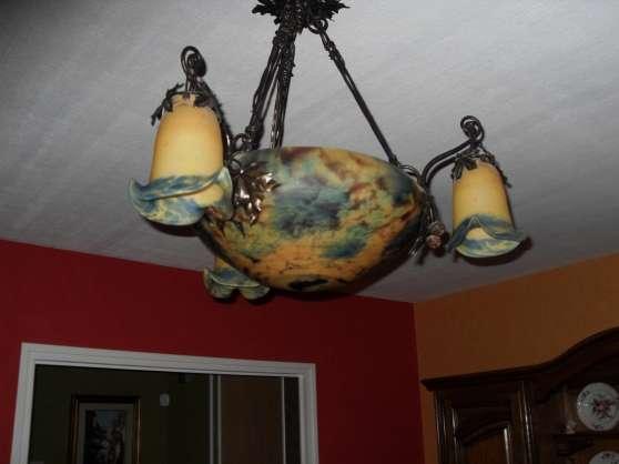 lustre en pate de verre ferri res meubles d coration lampes spot lampe huile. Black Bedroom Furniture Sets. Home Design Ideas