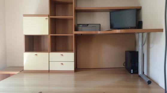 ensemble lit bureau estrade mezzanine meubles d coration chambres coucher juvignac. Black Bedroom Furniture Sets. Home Design Ideas