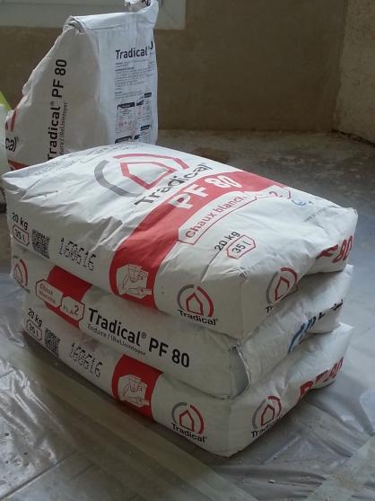 2 sacs de chaux tradical pf80 cologique mat riaux de - Sac de chaux ...