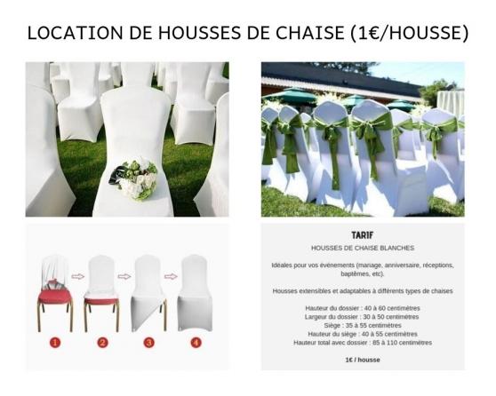 Annonce occasion, vente ou achat 'Location de housses de chaises blanches'