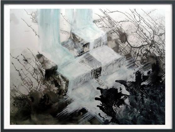 Acrylique peinture nocturne chambre
