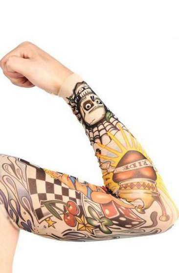 Manches faux tatouage