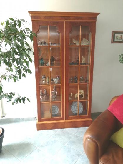 A vendre vitrine en acajou blond de Cuba