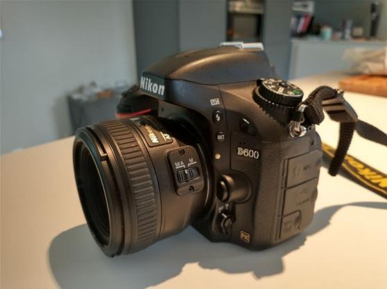 Annonce occasion, vente ou achat 'Nikon D600 plein format avec objectifs'