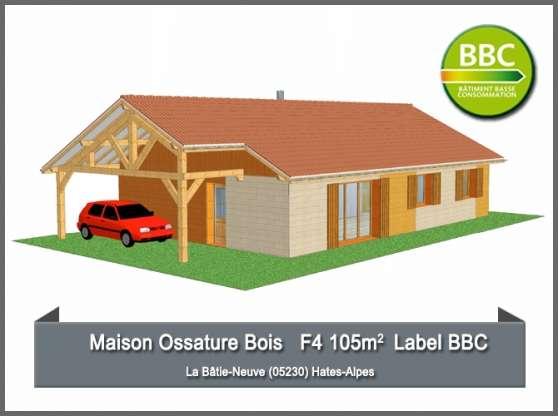 Maison Ossature Bois - Label BBC