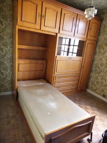 meuble rangement avec lit pliant int gr bressuire meubles d coration divers meubles. Black Bedroom Furniture Sets. Home Design Ideas