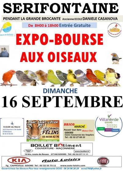 Annonce occasion, vente ou achat '16 Septembre SERIFONTAINE EXPO/BOURSE'