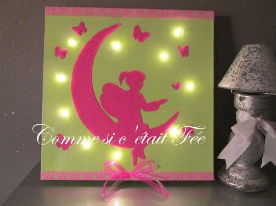 Annonce occasion, vente ou achat 'Cadre lumineux à LED Fée rose/anis'