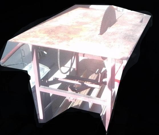 table scie à bois avec axe,courroie